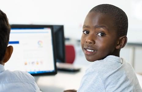 Hatch Coding Student at Laptop
