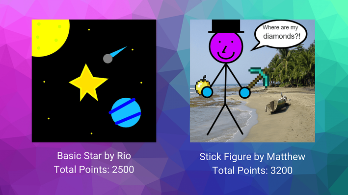 Star and Stick Figure Code Projects