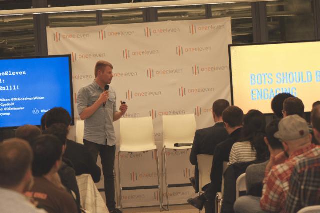 Matt M. Speaking at a Tech Event