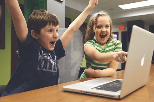 kids have fund with coding