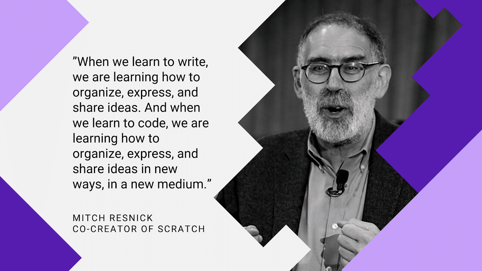 Mitch Resnick Quote on the value of teaching coding in the classroom
