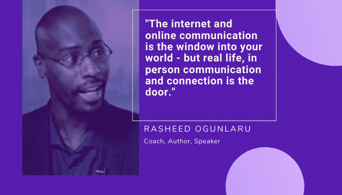 Rasheed Ogunlaru quote on communication