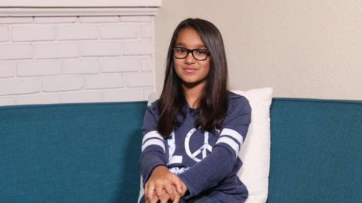 Coder, Samaira Mehta sitting on a couch