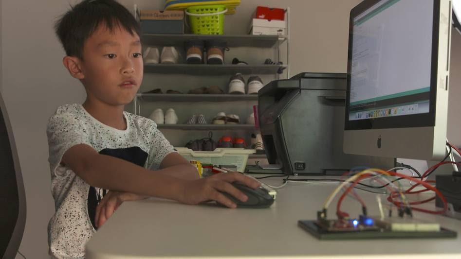 Young coder, Seth Yee