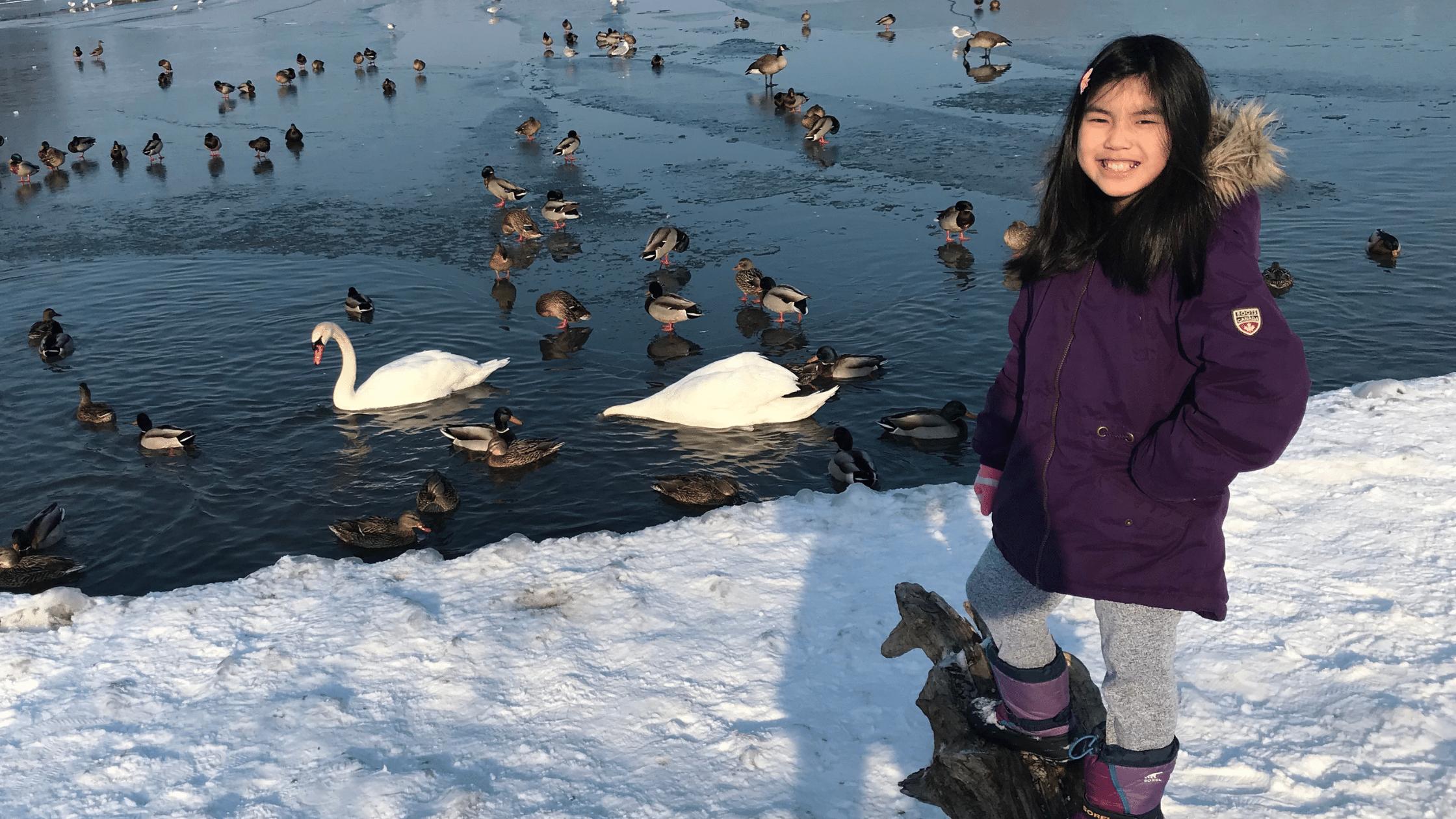 Hatch Coding Student, Samantha at the Lake
